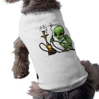 Alien and Water Pipe Sleeveless Dog Shirt