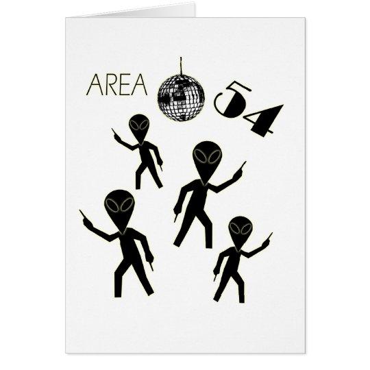 Alien Area 54 Card