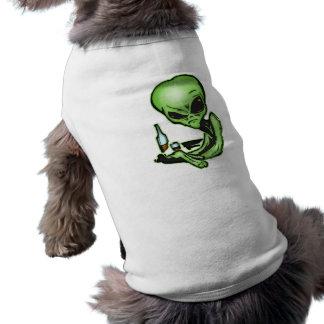 Alien At The Local Bar Sleeveless Dog Shirt