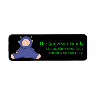 Alien Baby First Halloween Return Address Labels