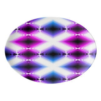 Alien Beam Bright Pink Purple Teleport Future Porcelain Serving Platter