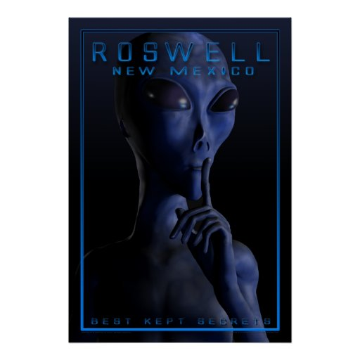 Alien, being, UFO, Roswell, mystery, encounter, ab Posters