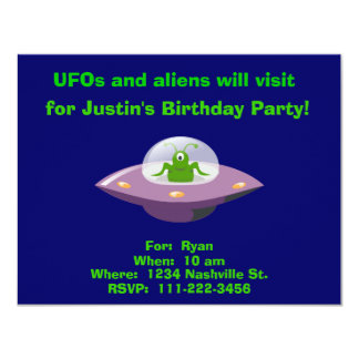 Alien Birthday Invitation