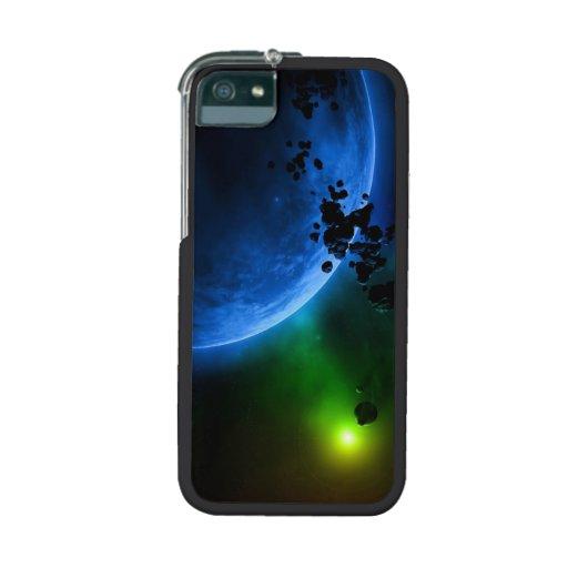Alien Blue Planets & Asteroids iPhone 5/5S Cases