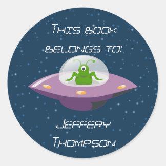 Alien Bookplate Stickers