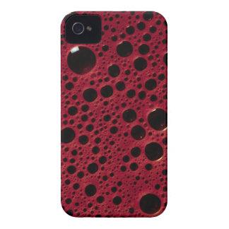 Alien bubbles bordeaux texture iPhone 4 case