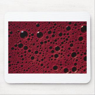 Alien bubbles bordeaux texture mouse pad