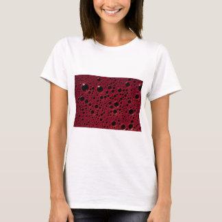 Alien bubbles bordeaux texture T-Shirt