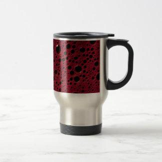 Alien bubbles bordeaux texture travel mug