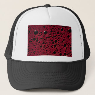 Alien bubbles bordeaux texture trucker hat