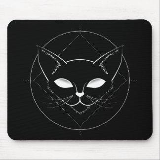 Alien Cat Black Mousepad