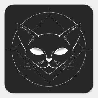 Alien Cat Black sticker