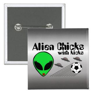 Alien Chicks Buttons