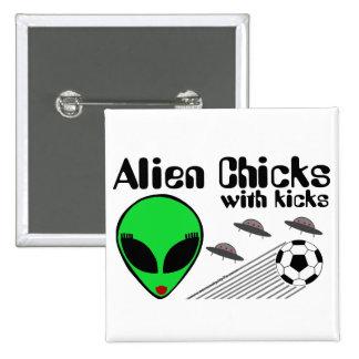 Alien Chicks Button