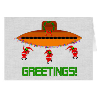 Alien Christmas Card