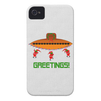 Alien Christmas iPhone 4 Case-Mate Case