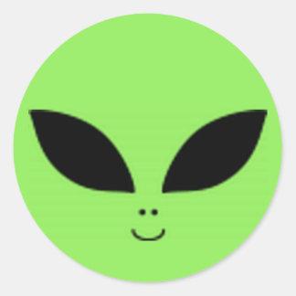 Alien Classic Round Sticker