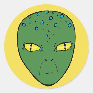 Alien. Classic Round Sticker