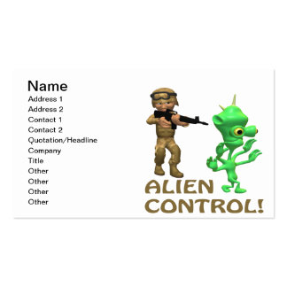 Alien Control Business Card Templates