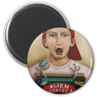 Alien Cookies finished painting Magnet