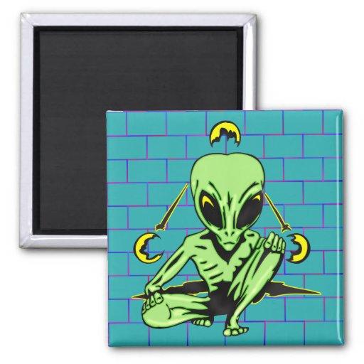 Alien Coverup Refrigerator Magnet