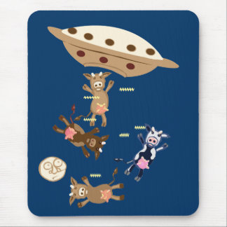 Alien cow abductions mouse pad