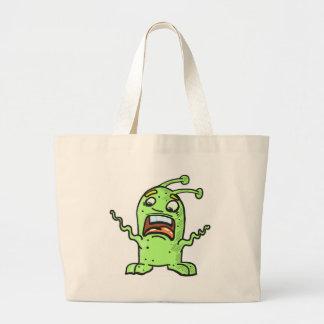 Alien Creature Sketch Large Tote Bag