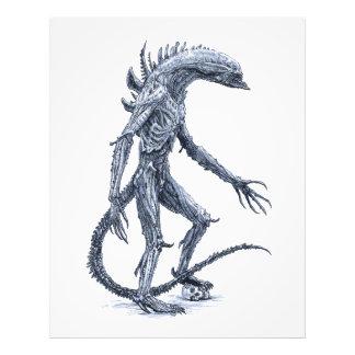 Alien Creature with Skull Photo Art