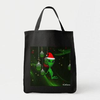 Alien Creatures Santa Tote Bag Grocery Tote Bag