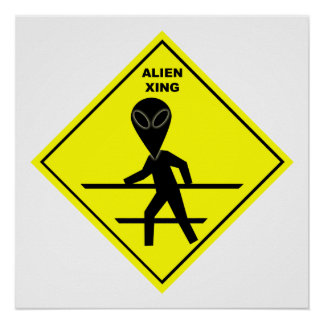 Alien Crossing Poster