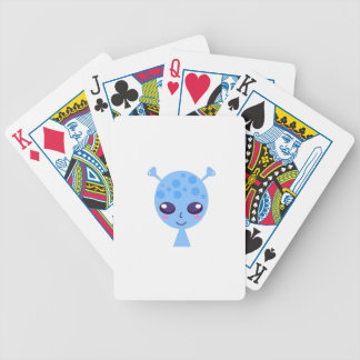 Alien cute design on blue bicycle playing cards