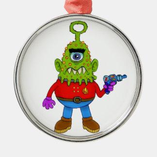 Alien Cyclops Beasty Metal Ornament