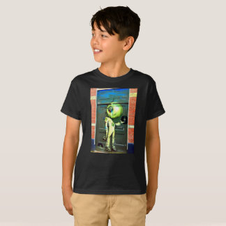 Alien DJ Street Art kids T-Shirt