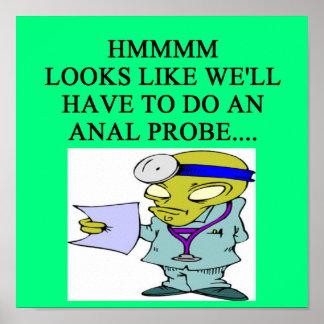 alien doctor joke poster