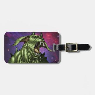 Alien Dog Monster Warrior by Al Rio Bag Tag