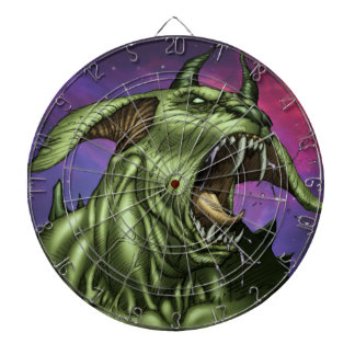 Alien Dog Monster Warrior by Al Rio Dart Board