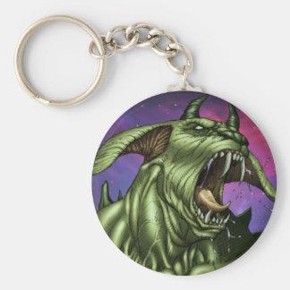 Alien Dog Monster Warrior by Al Rio Keychains
