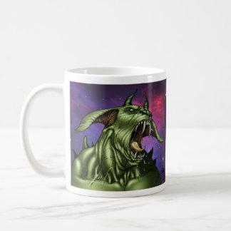 Alien Dog Monster Warrior by Al Rio Mugs