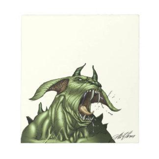 Alien Dog Monster Warrior by Al Rio Scratch Pads