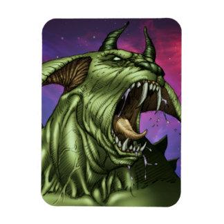 Alien Dog Monster Warrior by Al Rio Rectangular Magnet