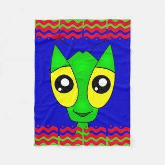 Alien Doodle Fleece Blanket