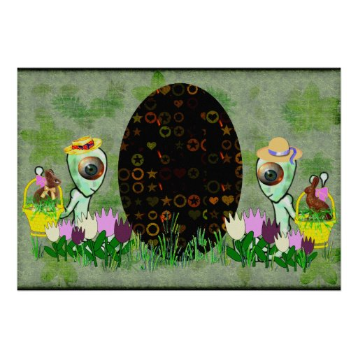 Alien Easter Egg Hunt Posters