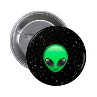 alien emojis 6 cm round badge