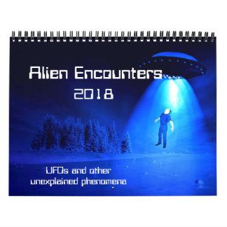 Alien Encounters 2018 Calendar