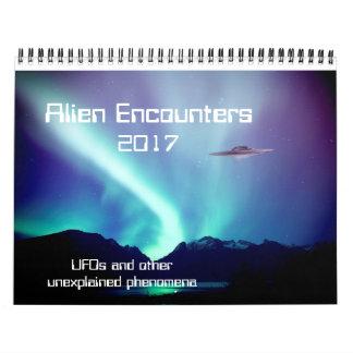 Alien Encounters UFO calendar for 2017