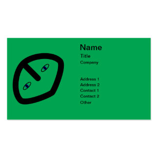 Alien Face on Green Pack Of Standard Business Cards