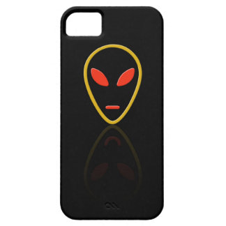 Alien face reflection iPhone 5 cases