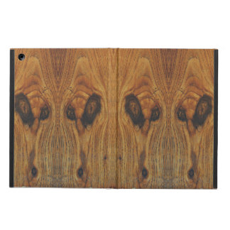 Alien Faces Wood Grain iPad Air Cover