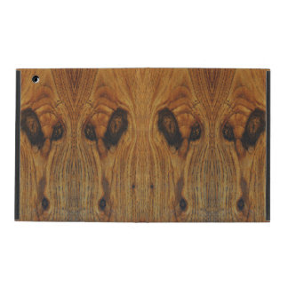 Alien Faces Wood Grain iPad Covers