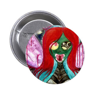 Alien fairy princess art badge button
